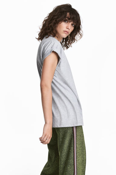Jersey top - Grey - Ladies | H&M 1