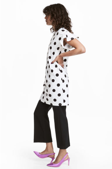 Patterned tunic - White/Black spotted - Ladies | H&M CN
