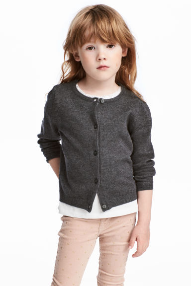棉質開襟衫 - Dark grey - Kids | H&M 1
