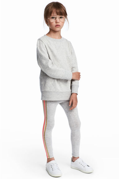 Trikåleggings - Ljusgrå - Kids | H&M SE 1