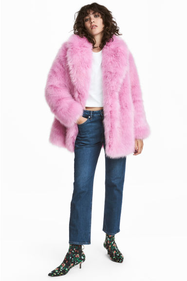 Faux fur jacket - Pink - Ladies | H&M GB