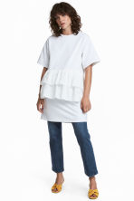 Flounced tunic - White - Ladies | H&M IE 1