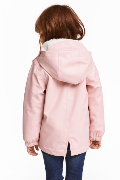 Pile-lined rain jacket - Light pink - Kids | H&M 1