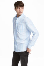 Hemd - Regular fit - Lichtblauw/geruit - HEREN | H&M BE 1
