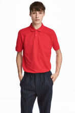 Polo shirt - Bright red - Men | H&M CA 1