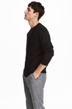 Merino wool cardigan - Black - Men | H&M IE 1