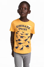 T-shirt with Printed Design - Yellow - Kids | H&M CA 1