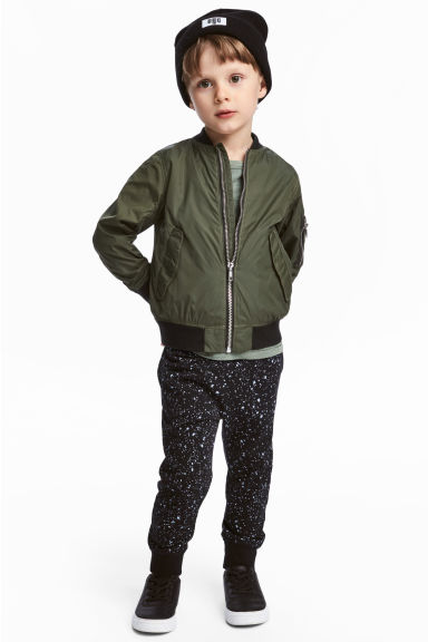 Joggers - Black/Spotted - Kids | H&M CN 1