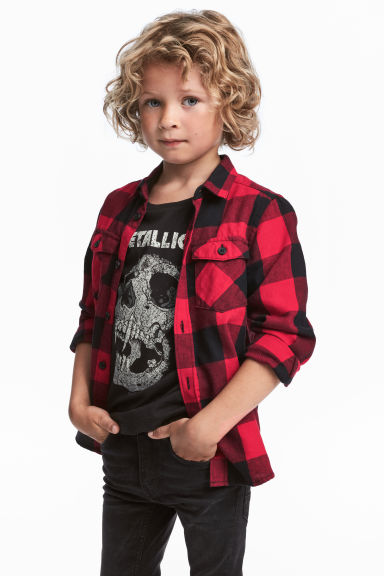 Flannel Shirt - Red/plaid - Kids | H&M CA 1