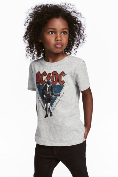 Printed T-shirt - Grey/AC/DC - Kids | H&M 1
