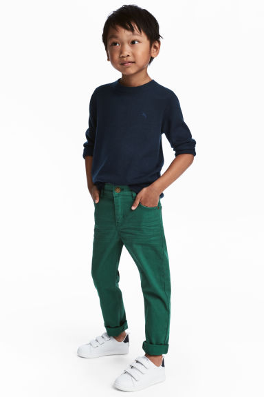 Pantalon stretch Slim fit - Vert -  | H&M CH 1