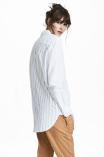 Cotton shirt - White/Blue striped - Ladies | H&M 1