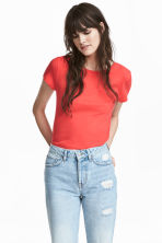 Jersey top - Bright red - Ladies | H&M CN 1