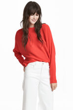 Cross-ribbed jumper - Coral red - Ladies | H&M 1