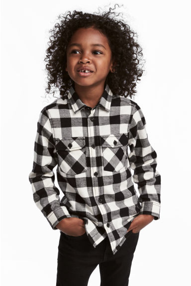 Flannel shirt - Black/Checked - Kids | H&M 1
