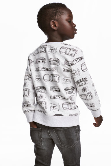 Sweatshirt with Printed Design - Light gray - Kids | H&M CA