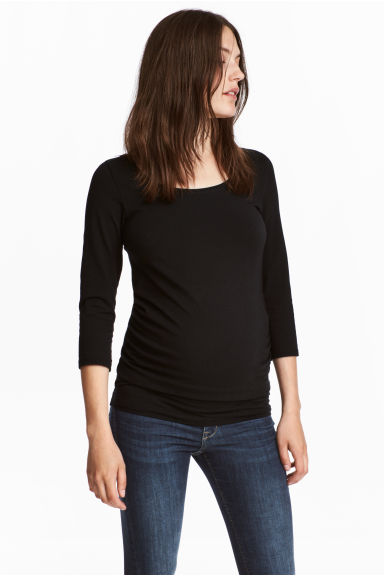 MAMA Jersey top - Black - Ladies | H&M 1