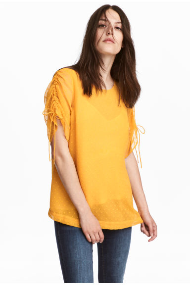 MAMA 雪紡女衫 - Mustard yellow - Ladies | H&M 1