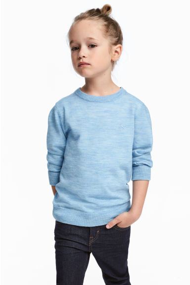 Merino wool jumper - Light blue - Kids | H&M