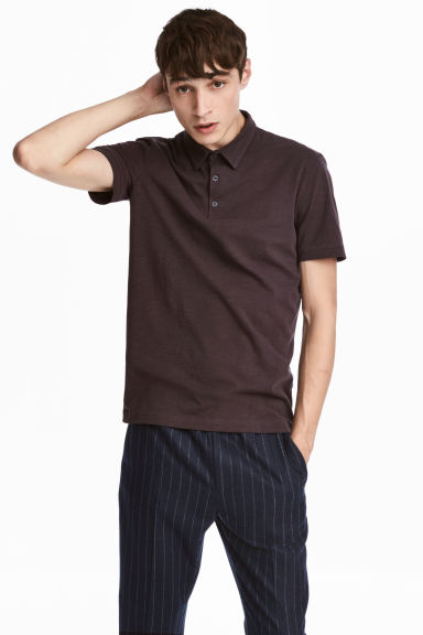 Polo shirt Slim Fit - Dark brown - Men | H&M 1