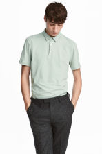 Polo shirt Slim Fit - Mint green - Men | H&M CN 1