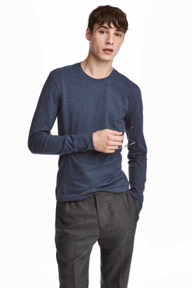 Jersey top Slim fit - Blue - Men | H&M CN 1