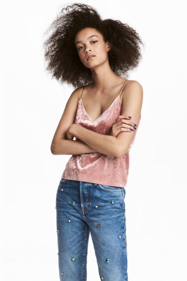 Top in velour - Rosa vintage - DONNA | H&M IT