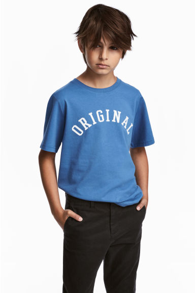 T-shirt with a print motif - Blue - Kids | H&M CN