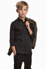 Easy-iron shirt - Black - Kids | H&M 1