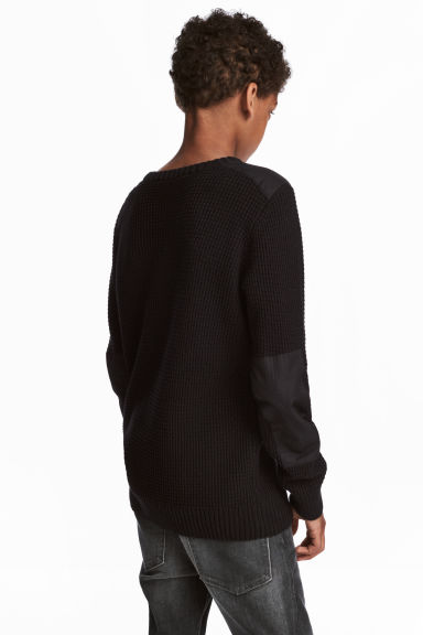 Knitted jumper - Black -  | H&M CN