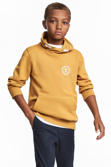 Funnel-collar sweatshirt - Mustard yellow -  | H&M 1
