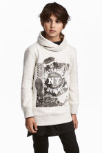 Chimney-collar Sweatshirt - Light gray melange - Kids | H&M CA 1