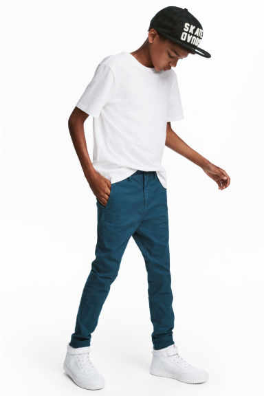 Slim fit Chinos - Teal blue - Kids | H&M CA 1