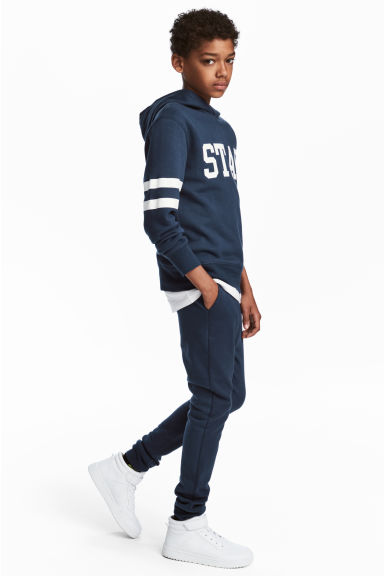 Hooded top and joggers - Dark blue - Kids | H&M 1