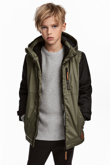 Padded outdoor jacket - Khaki green -  | H&M CN