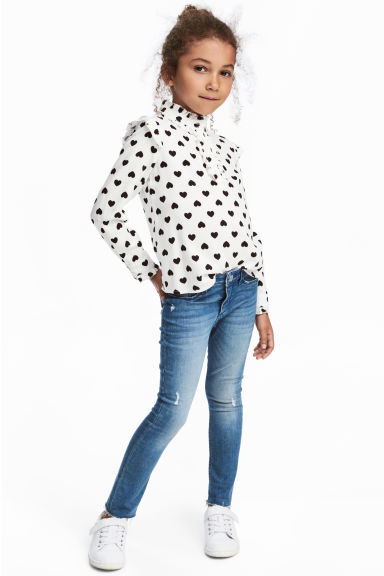 Skinny fit Worn Jeans - Denimblå - Kids | H&M FI 1