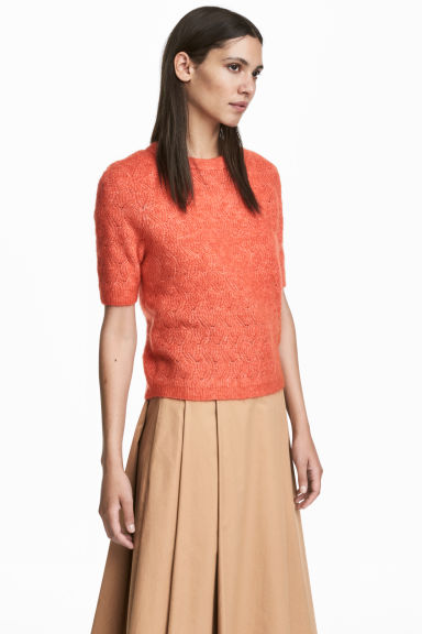 Mohair-blend jumper - Orange -  | H&M CN 1