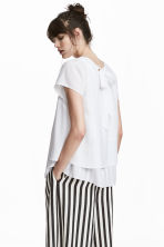 MAMA Crêpe nursing top - White - Ladies | H&M CN 1