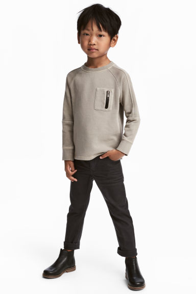 Stretchbroek - Slim fit - Zwart -  | H&M BE 1