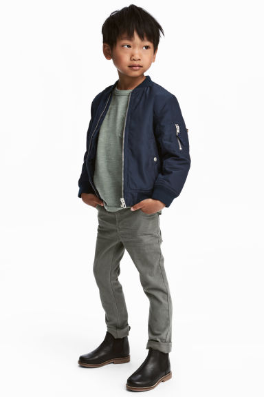 Stretch trousers Slim fit - Grey - Kids | H&M 1