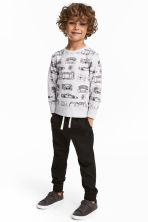 Cotton pull-on trousers - Black - Kids | H&M CA 1
