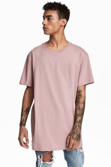 Long T-shirt - Old rose - Men | H&M 1