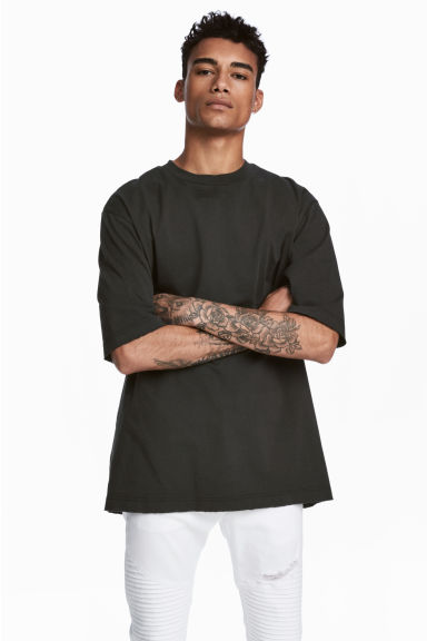 Oversized T-shirt - Black - Men | H&M 1