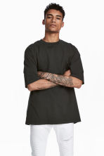 Oversized T-shirt - Black - Men | H&M CN 1