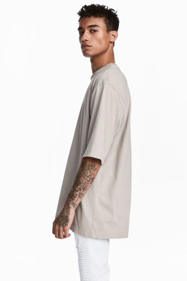 Oversized T-shirt - Beige - Men | H&M CA 1