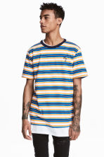 Striped T-shirt - Blue/striped - Men | H&M CA 1