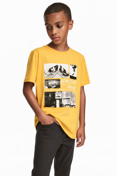 T-shirt avec impression - Jaune - ENFANT | H&M BE
