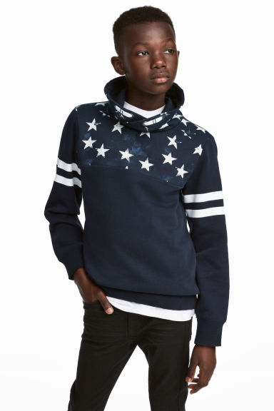 Chimney-collar Sweatshirt - Dark blue - Kids | H&M CA 1