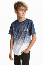 Printed T-shirt - White/Blue marl -  | H&M 1