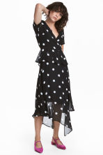 Chiffon dress - Black/Spotted - Ladies | H&M 1